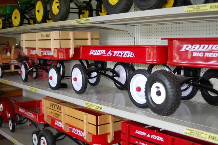 We carry the classic Red Flyer wagons.