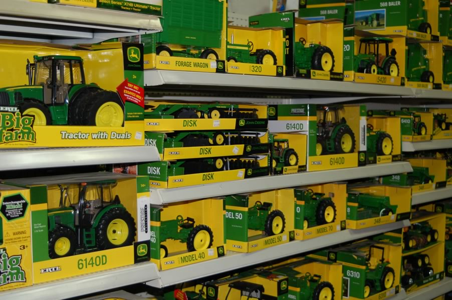 We have a variety of nostalgic, hard-to-find toys, including John Deere and Red Flyer.